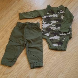 Garanimals 2 piece outfit/camouflage